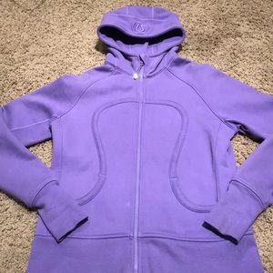 Lululemon purple scuba hoodie size 12